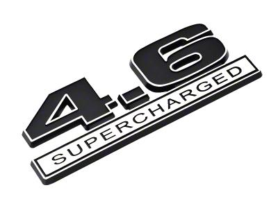 Black 4.6 Supercharged Emblem