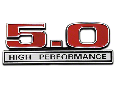 Red 5.0 High Performance Emblem