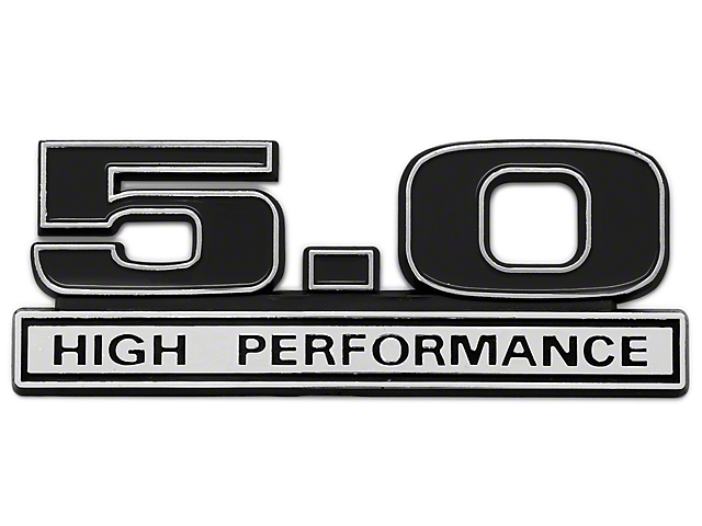 Black 5.0 High Performance Emblem