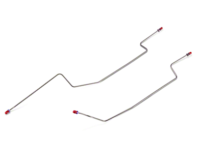Rear Axle Hard Brake Lines - 8.8in. Drum (86-93 All)