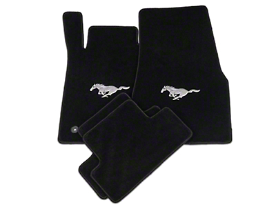 Lloyd Black Floor Mats - Pony Logo (05-10 All)