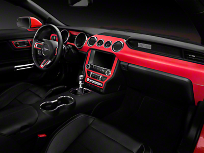 Red Carbon Fiber Dash Kit (15-17 All)