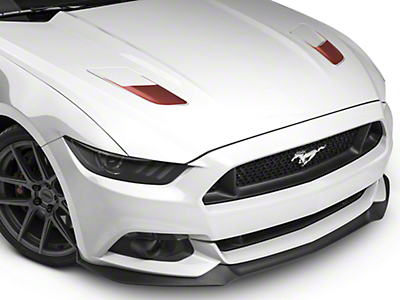 Hood Vent Accent Decals - Red Aluminum Carbon Fiber (15-17 GT)