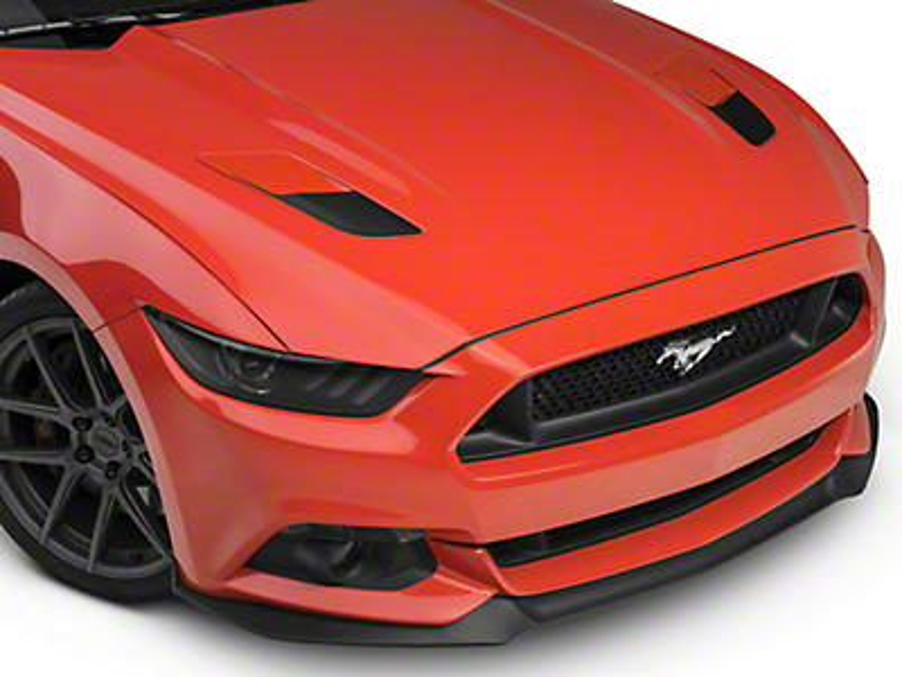 Hood Vent Accent Decals - Matte Black (15-16 GT)