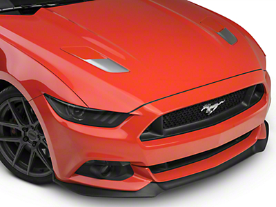 Hood Vent Accent Decals - Silver (15-17 GT)