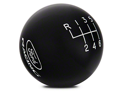 Ford Performance 6-Speed Shift Knob w/ Ford Racing Logo - Black (15-17 GT, EcoBoost, V6)