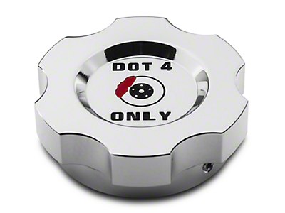 Modern Billet Chrome Brake Fluid Cap Cover (15-17 All)