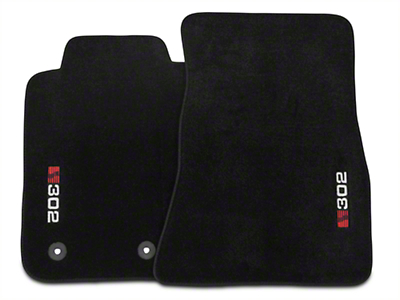 Saleen Charcoal Floor Mats - S302 Logo (15-16 All)