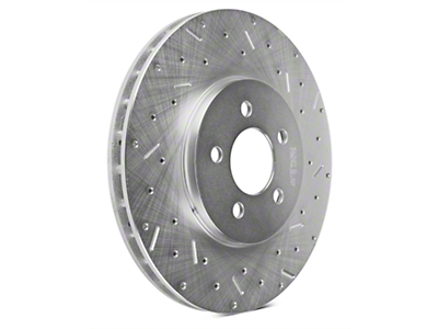 Xtreme Stop Precision Cross-Drilled & Slotted Rotors - Front Pair (94-04 Bullitt, Mach 1, Cobra)