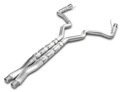 Stainless Works 3 in. Retro Chambered Cat-Back Exhaust w/ X-Pipe - Fastback (15-17 GT)