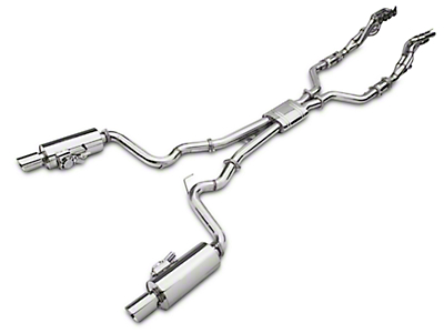 X-Force Varex Long Tube Catted Headers w/ Cat-Back Exhaust System - 1-7/8 x 3 in. (15-17 GT)