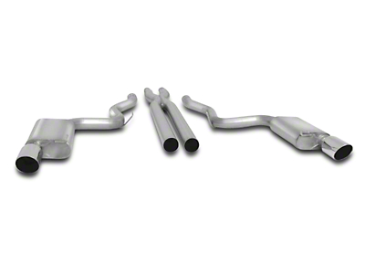 Gibson Cat-Back Exhaust w/ X-Pipe - Fastback - Stainless Tips (15-17 GT)