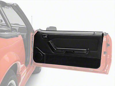 Convertible Door Panel -- Power Windows Black (87-93 All)