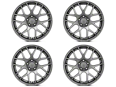 AMR Dark Stainless 4 Wheel Kit - 18x9 (05-14 All)