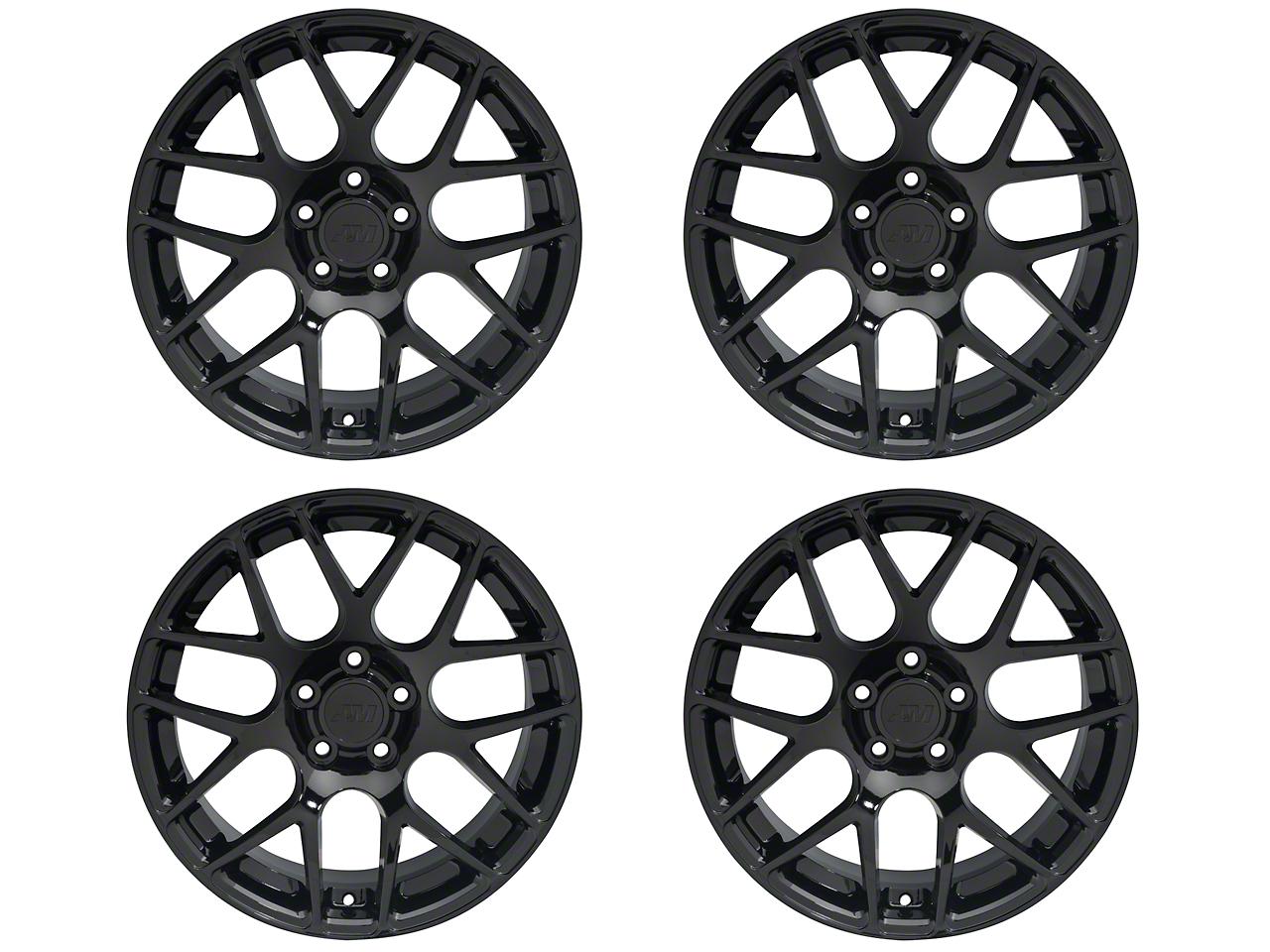 Staggered AMR Black 4 Wheel Kit - 18x9/10 (05-14 All)