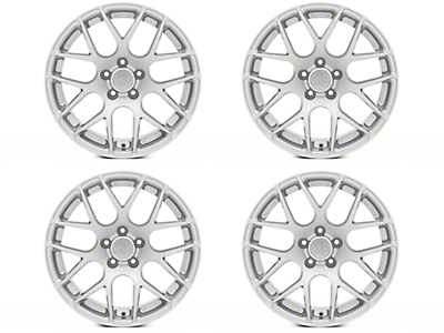 Staggered AMR Silver 4 Wheel Kit - 18x9/10 (05-14 All)