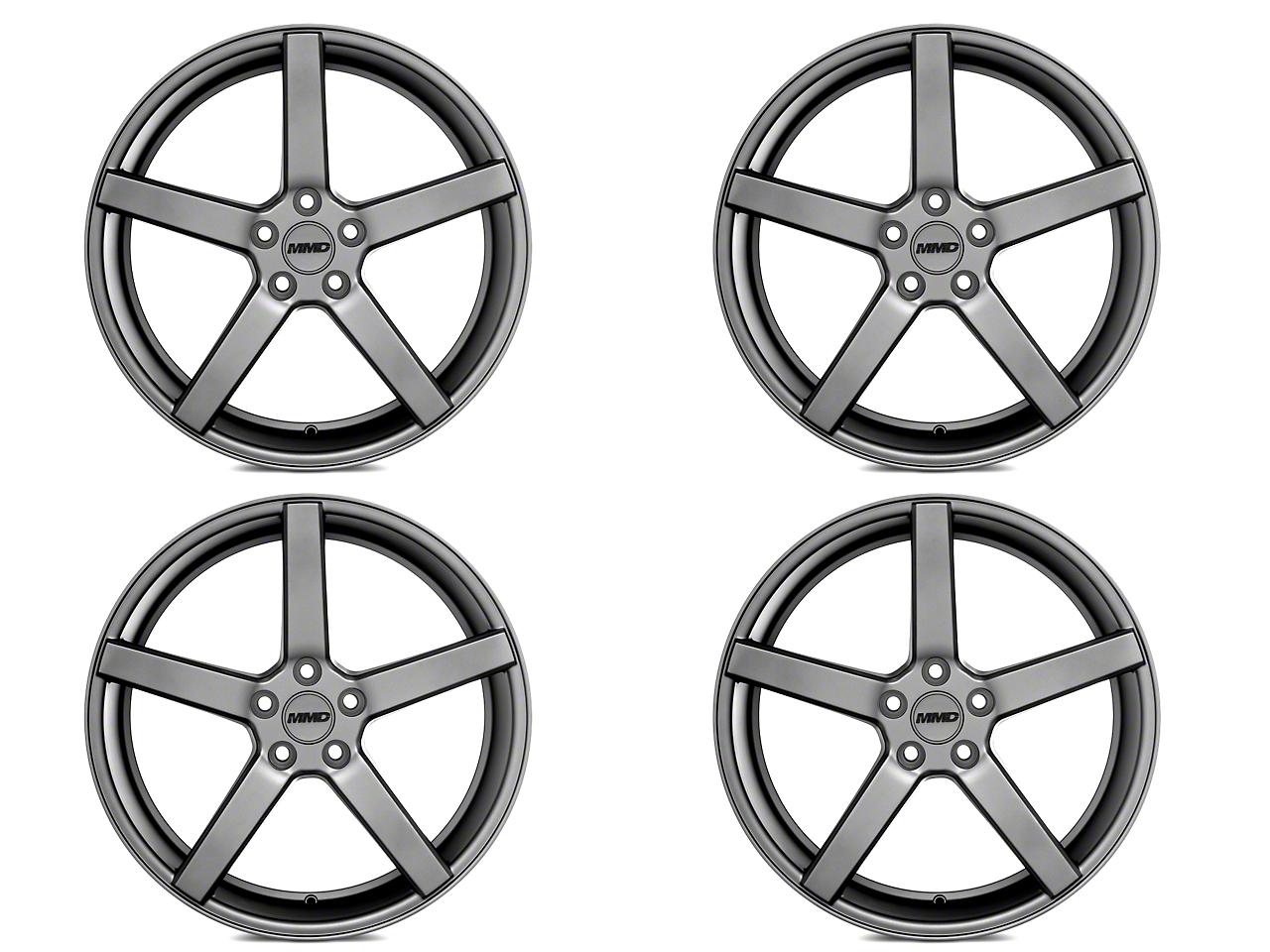 MMD 551C Charcoal 4 Wheel Kit - 20x8.5 (15-17)