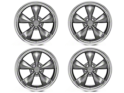 Deep Dish Bullitt Anthracite 4 Wheel Kit - 20x8.5 (05-14 V6; 05-10 GT)