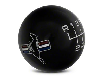 Modern Billet Retro 6-Speed Shift Knob w/Tri-Bar Logo - Black