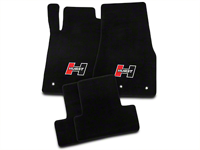 Hurst Black Floor Mats - Red Hurst Logo (10-14 All)