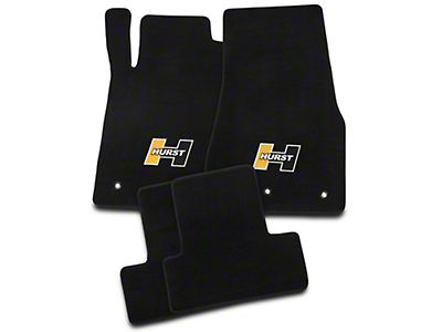 Hurst Black Floor Mats - Gold Hurst Logo (10-14 All)