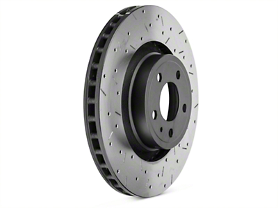 DBA 4000 XS Sport Cross-Drilled & Slotted Rotor - Front (15-17 GT; EcoBoost w/ Performance Pack)