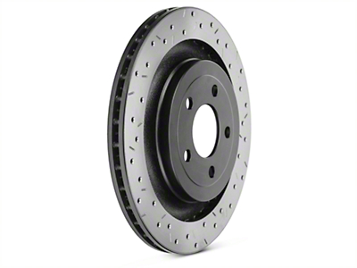 DBA 4000 XS Sport Cross-Drilled & Slotted Rotor - Rear (15-17 GT; EcoBoost w/ Performance Pack)