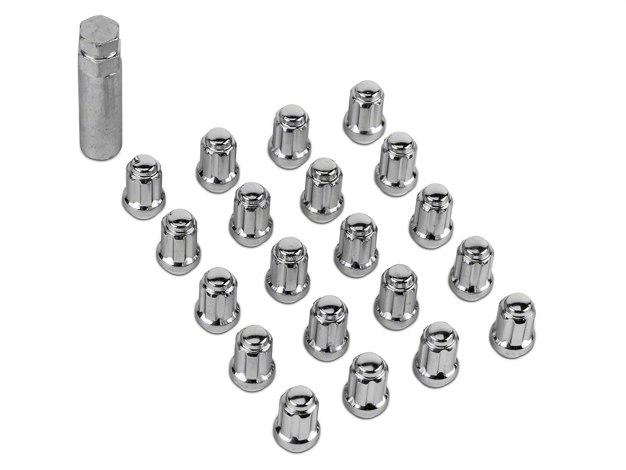 Chrome 6 Spline Lug Nut Kit - 14mm x 1.50 (15-17 All)