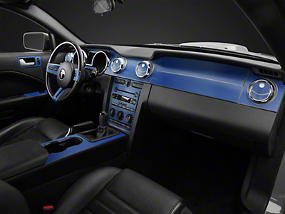 Blue Carbon Fiber Dash Kit (05-09 All)