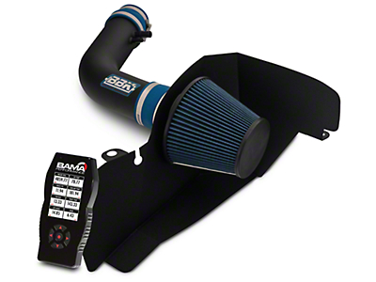BBK Blackout Cold Air Intake and BAMA X4 Tuner (15-17 V6)
