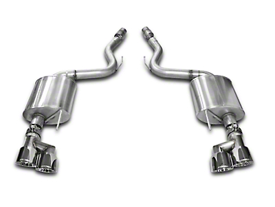 Corsa Touring 3 in. Axle-Back Exhaust - Fastback - Polished Quad Tips (15-17 GT)