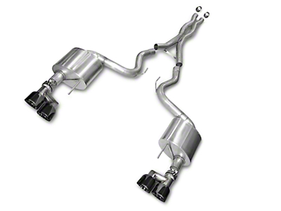 Corsa Xtreme 3 in. Cat-Back Exhaust - Fastback - Black Quad Tips (15-16 GT)