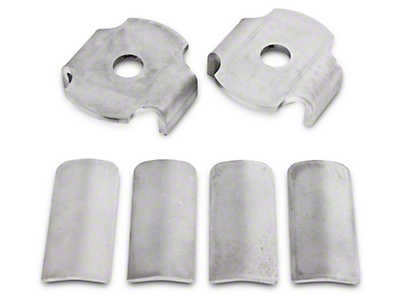 BMR Rear Cradle Bushing Inserts - Bare Steel (15-17 All)