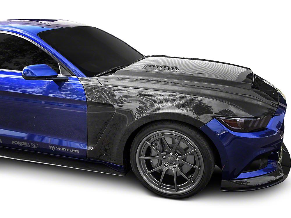 Anderson Composites GT350 Style Front Fenders - Carbon Fiber (15-17 GT, EcoBoost, V6)