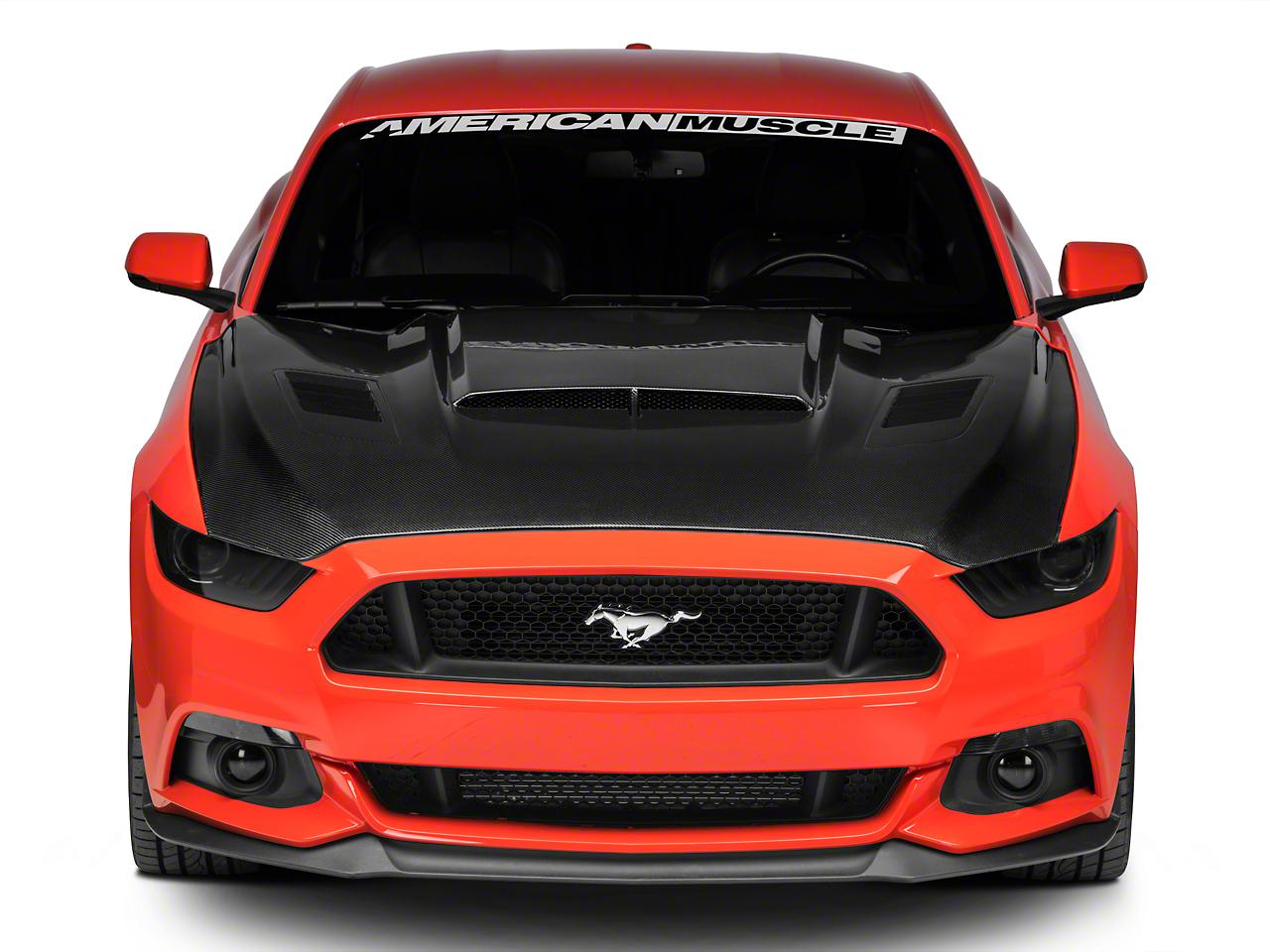 Anderson Composites Ram Air Hood - Carbon Fiber (15-17 GT, EcoBoost, V6)
