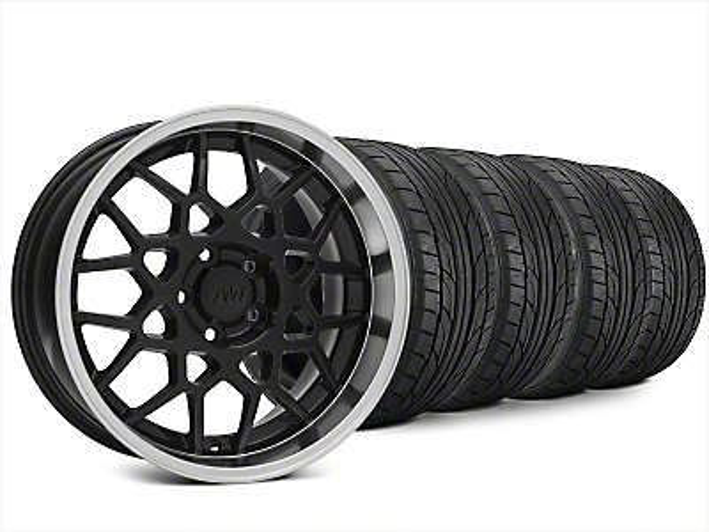 2013 GT500 Style Black Deep Dish Wheel & NITTO G2 Tire Kit - 18x9 (99-04 All)