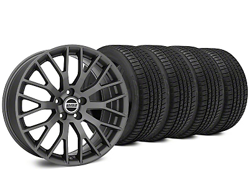 Performance Charcoal Wheel & Michelin Pilot Sport A/S 3+ Tire Kit - 19x8.5 (15-17 All)