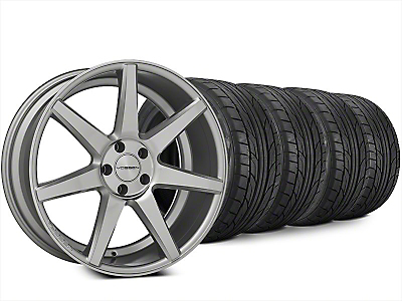 Vossen CV7 Silver Polished Wheel & NITTO NT555 G2 Tire Kit - 20x9 (15-17 All)