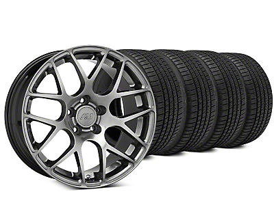 AMR Dark Stainless Wheel & Michelin Pilot Sport A/S 3+ Tire Kit - 19x8.5 (15-17 All)