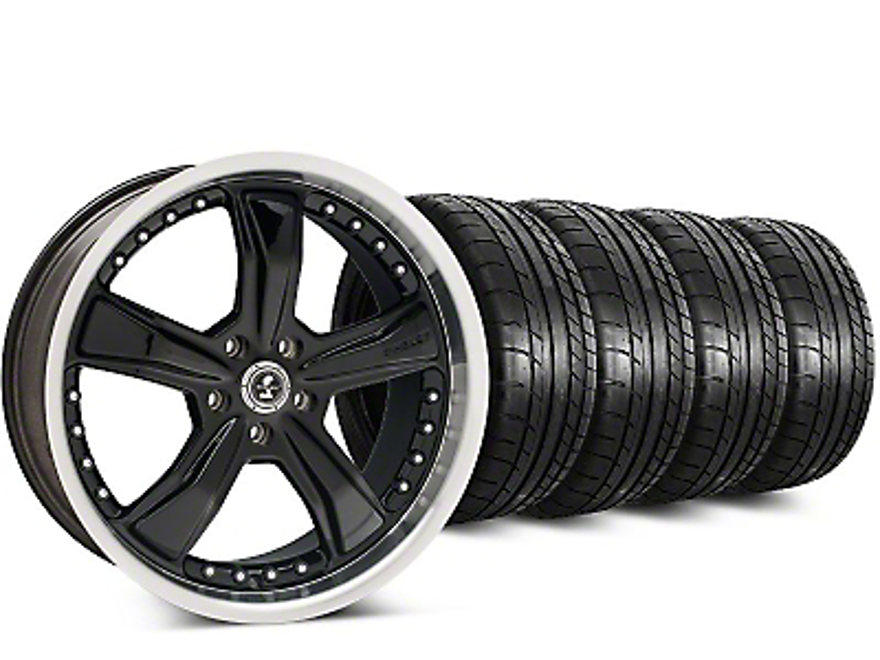 Shelby Razor Black Wheel & Mickey Thompson Street Comp Tire Kit - 20x9 (15-17 All)