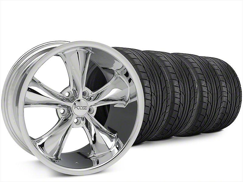 Foose Legend Chrome Wheel & NITTO NT555 G2 Tire Kit - 20x8.5 (15-17 All)