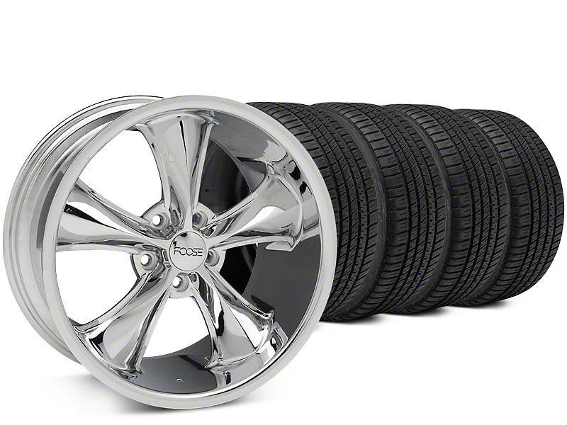 Foose Legend Chrome Wheel & Michelin Pilot Sport A/S 3+ Tire Kit - 20x8.5 (15-17 All)