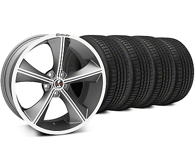Shelby CS70 Gunmetal Wheel & Michelin Pilot Sport A/S 3+ Tire Kit - 20x9 (15-17 All)