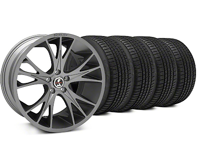 Shelby CS1 Gunmetal Wheel & Michelin Pilot Sport A/S 3+ Tire Kit - 20x9 (15-17 All)