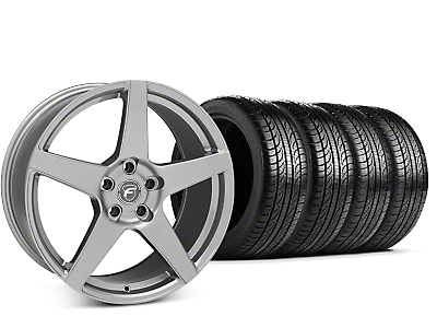 Forgestar CF5 Gunmetal Wheel & Pirelli P-Zero Nero Tire Kit - 19x9.5 (15-17 All)
