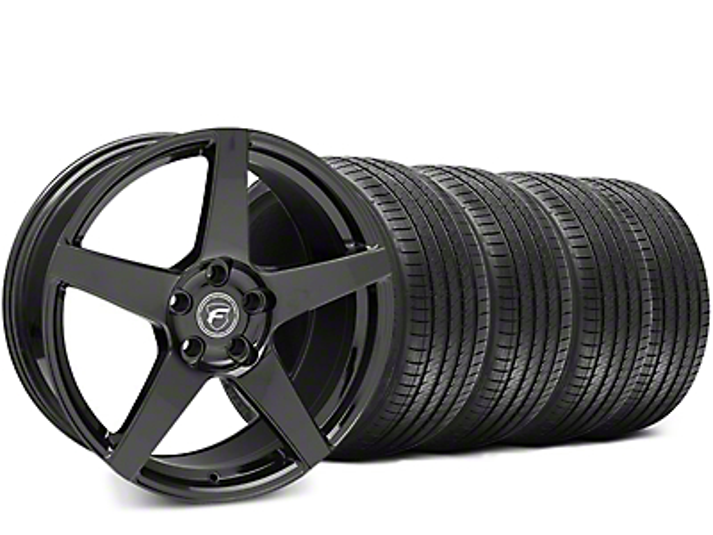 Forgestar CF5 Piano Black Wheel & Sumitomo HTR Z III Tire Kit - 19x9.5 (15-16 All)