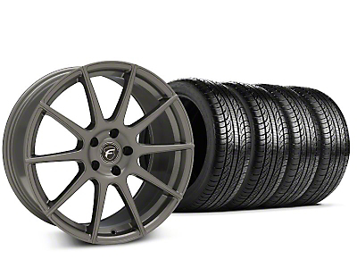 Forgestar CF10 Gunmetal Wheel & Pirelli P-Zero Nero Tire Kit - 19x9.5 (15-17 All)