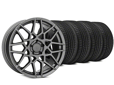 2013 GT500 Style Charcoal Wheel & Michelin Pilot Sport A/S 3+ Tire Kit - 20x8.5 (15-17 All)