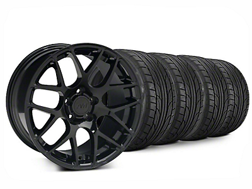 AMR Black Wheel & NITTO NT555 G2 Tire Kit - 20x8.5 (15-17 All)