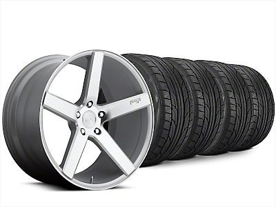 Staggered Niche Milan Silver Wheel & NITTO NT555 G2 Tire Kit - 20x8.5/10 (15-17 All)